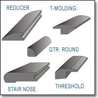 diagram of floor transition moldings