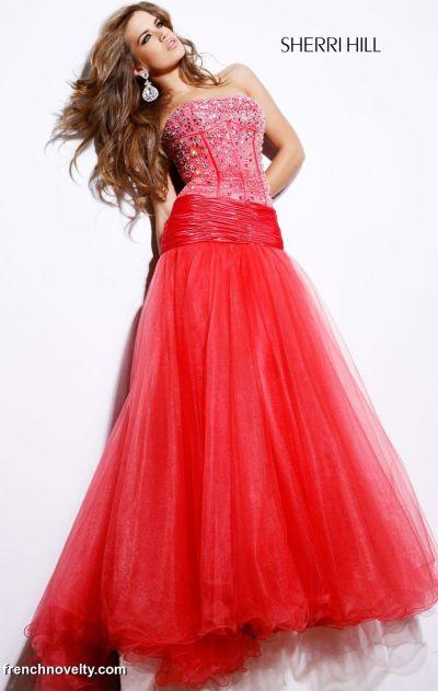 e509785e64458 Sherri Hill Beaded Dropped Waist Tulle Prom Dress 2414. Price: $770.00