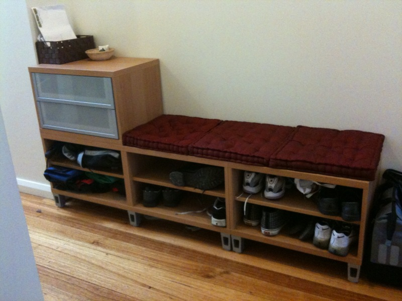 Shoe Storage Bench Leather