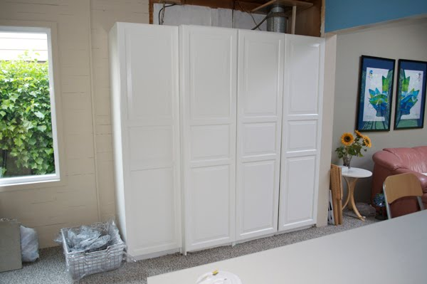 Cabinet to hide the boiler and fuse box ~ Get Home Decorating on
