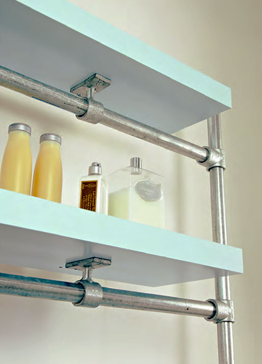 Floating Bathroom Shelf Made With Kee Klamp And Lack