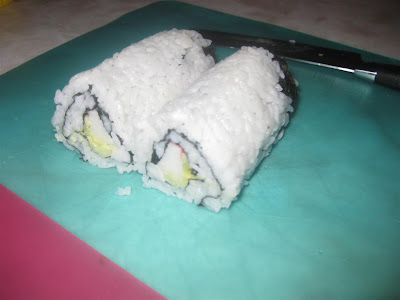 make california rolls, sushi, cut roll, rice, crab, make at home, delicious