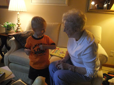 grandma and great grandson