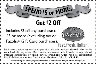 graphic regarding Fazoli's Printable Coupons identify Fazoli s coupon - Thai point boston machusetts