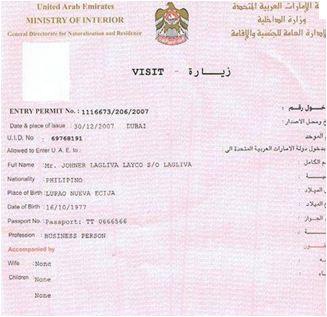 U A E Visa Rules And Regulations Uae Visit Visa For Immediate