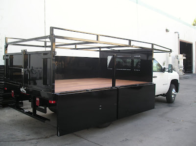 "Mark Christopher Chevrolet >> Harbor Truck Bodies Blog: Harbor Steel Flatbed with Steel Fold-Down Side 36"" Gates"