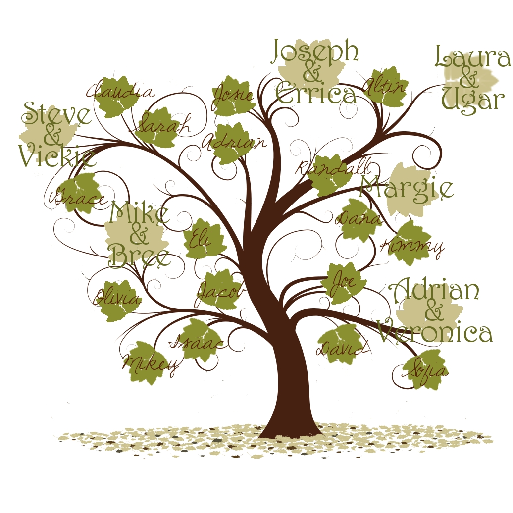 Family Tree Template Leaves