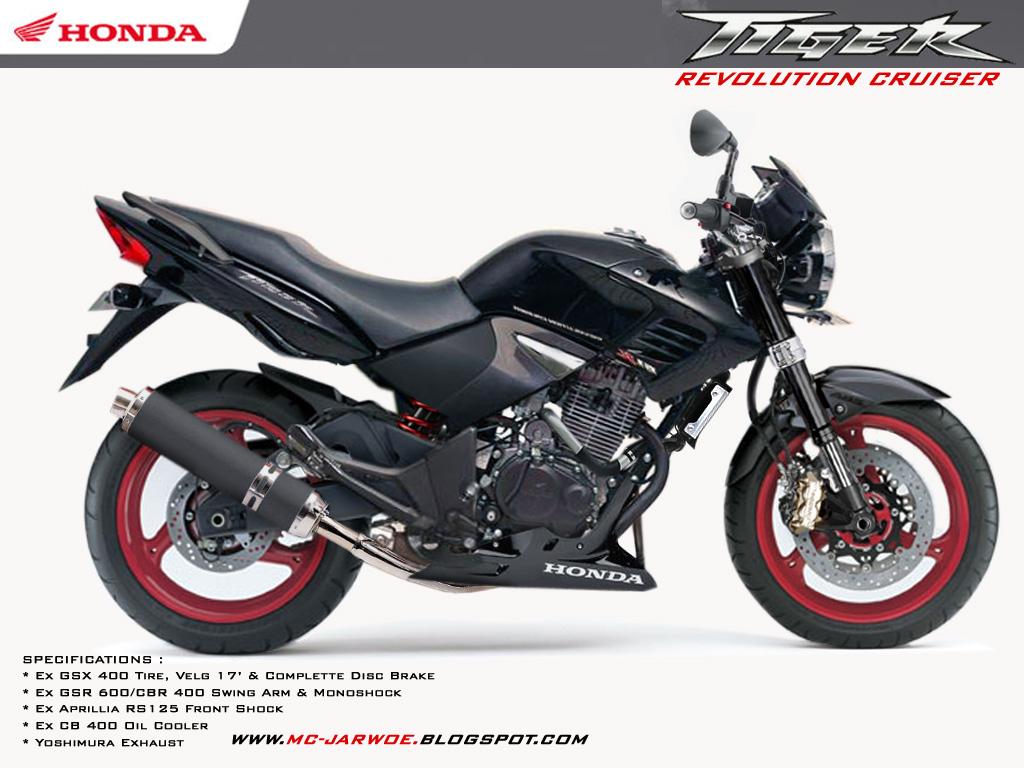 Honda Tiger Revo Black Sport Touring Gambar Modifikasi Motor Honda