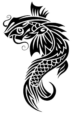 Koi Fish Tattoo Black And White Tattoo Designs Of Animal