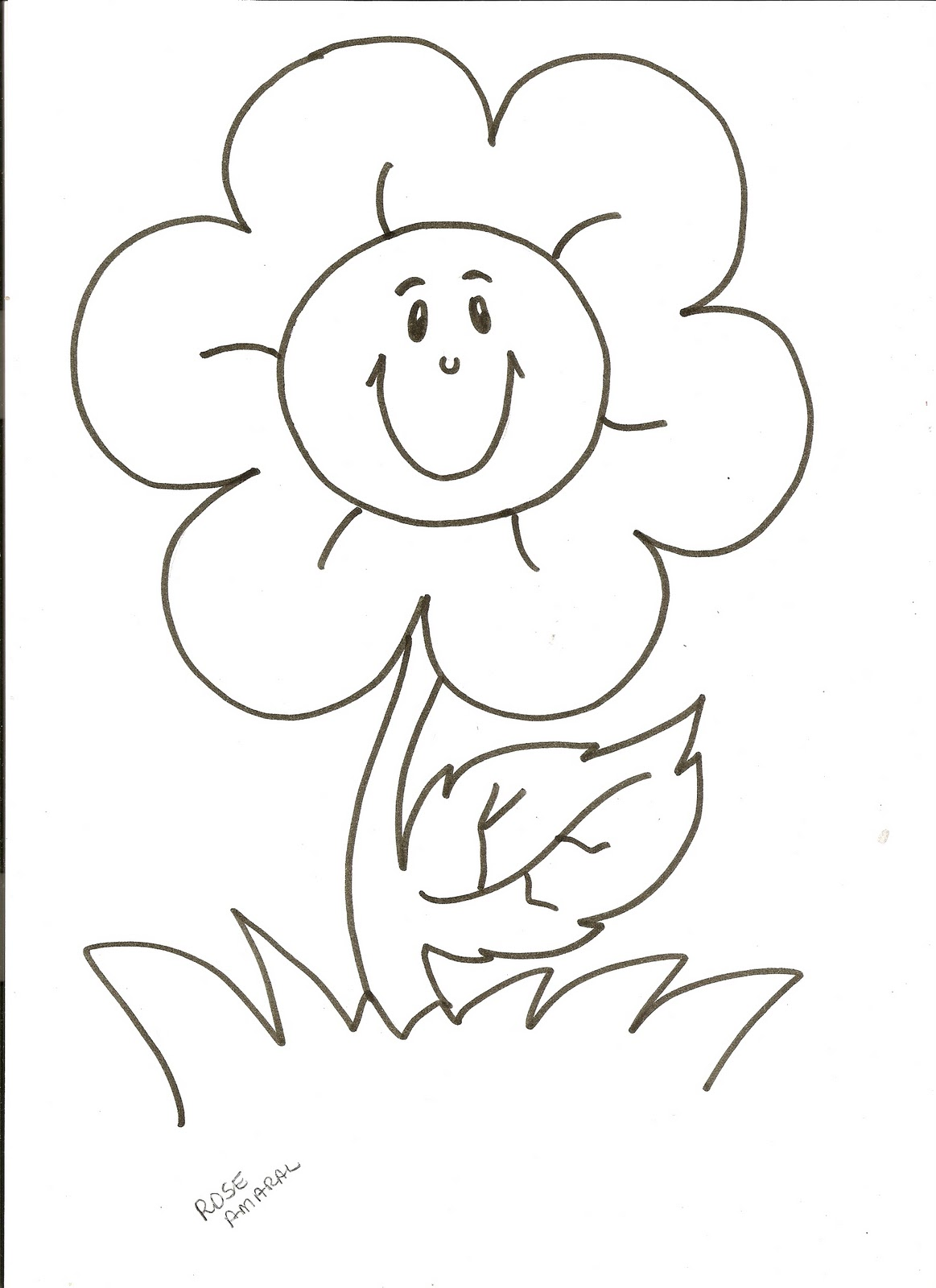 Evangeliza!: Flor, Para colorir