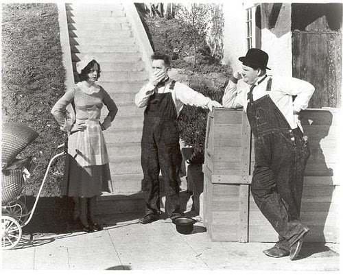 Image result for laurel and hardy music box steps