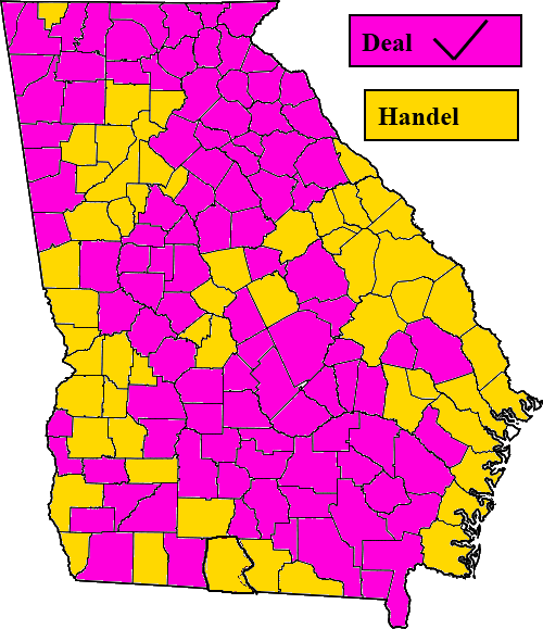 Political Maps Blog Georgia Governor Republican Primary Map
