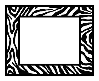 Zebra Print Frame - FREE Download Cricut File