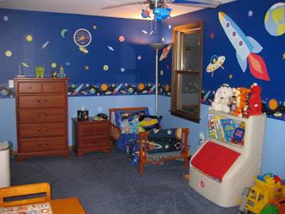 Amazing Little Boy S Outer Space Toddler Bedroom Momspotted