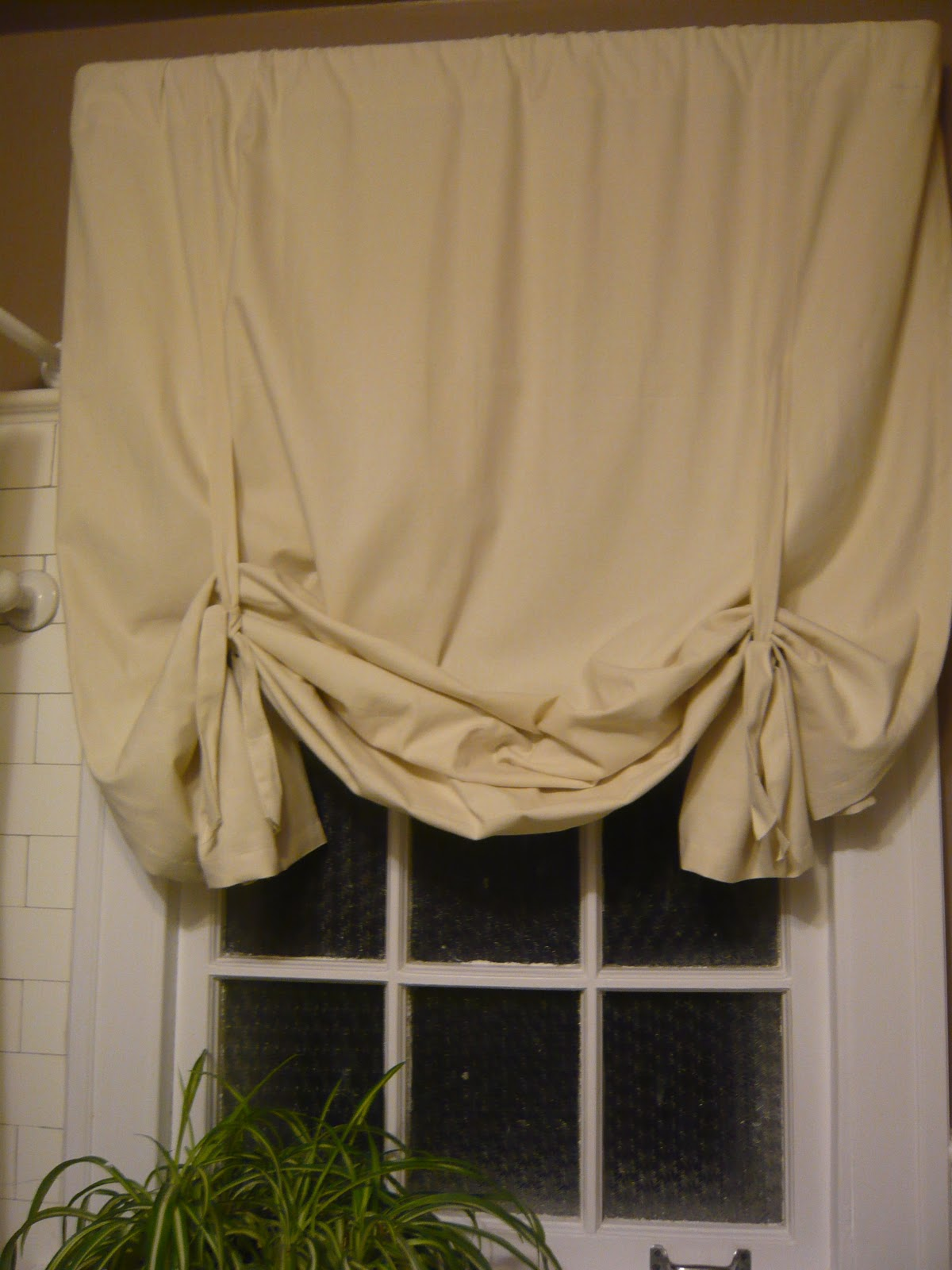 So Easy No Sew Curtain Update