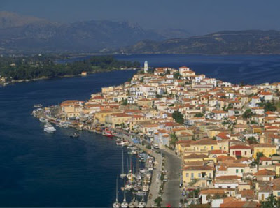 Isla de Poros en Grecia