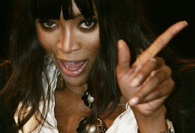 Naomi Campbell's fingernails.