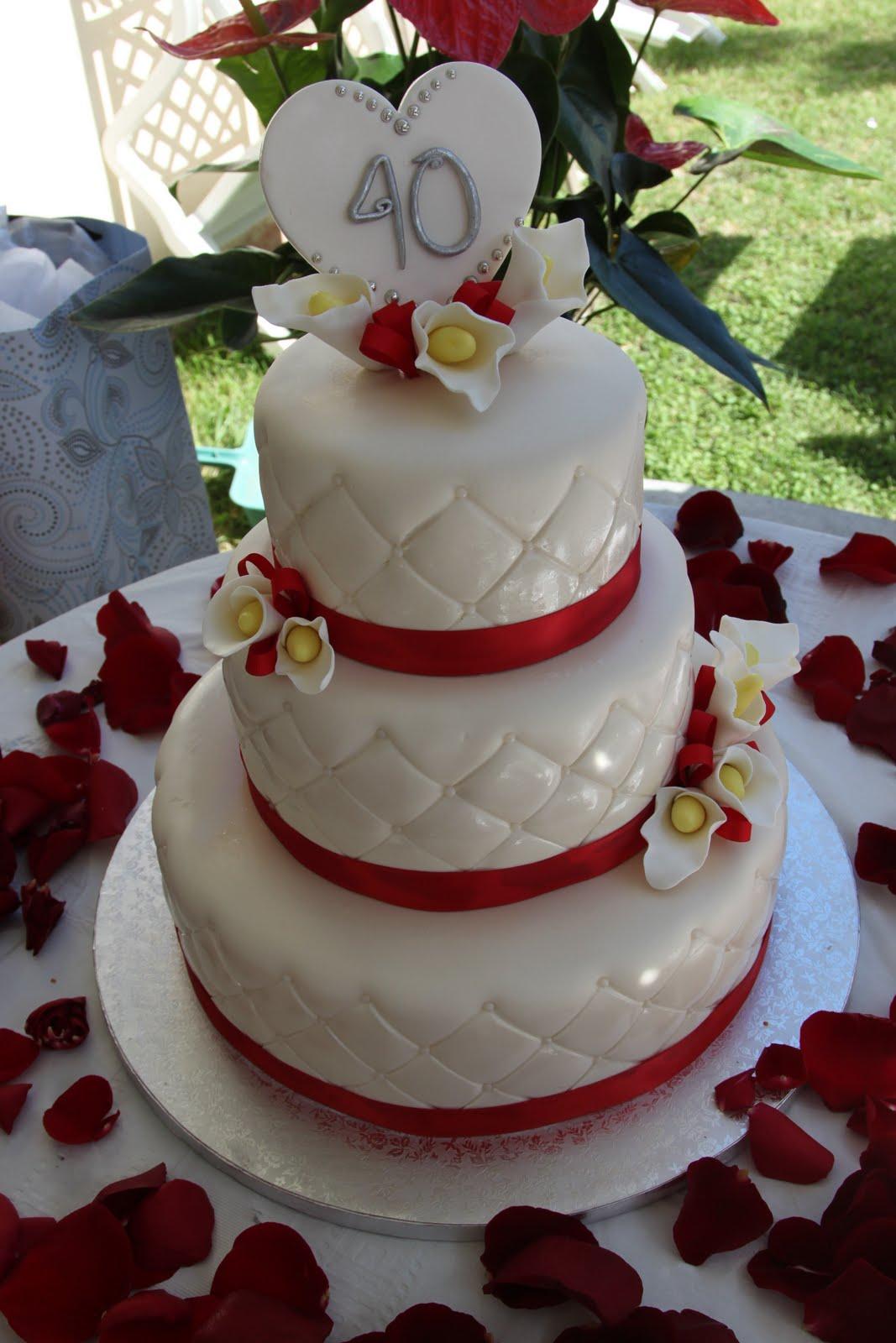 Cakes By Tiffany Nevarez Happy 40th Anniversary Cake