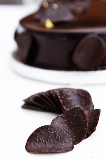 Chocolate Mousse Cake With Creme Brulee Filling