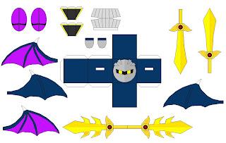 Make The Cut >> CUBIX-papercraft: Meta Knight