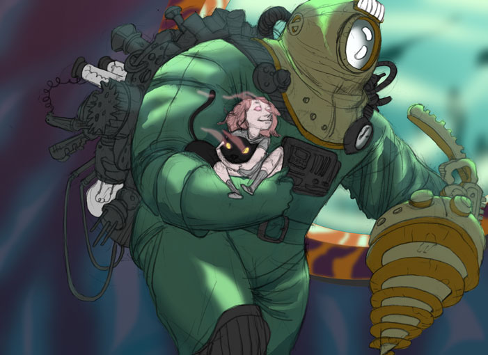 Super Punch Bioshock 2 Fan Art