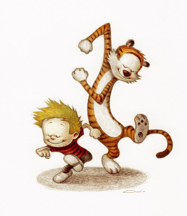 Super Punch Calvin And Hobbes Wallpaper