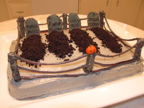 Super Punch Graveyard Cake