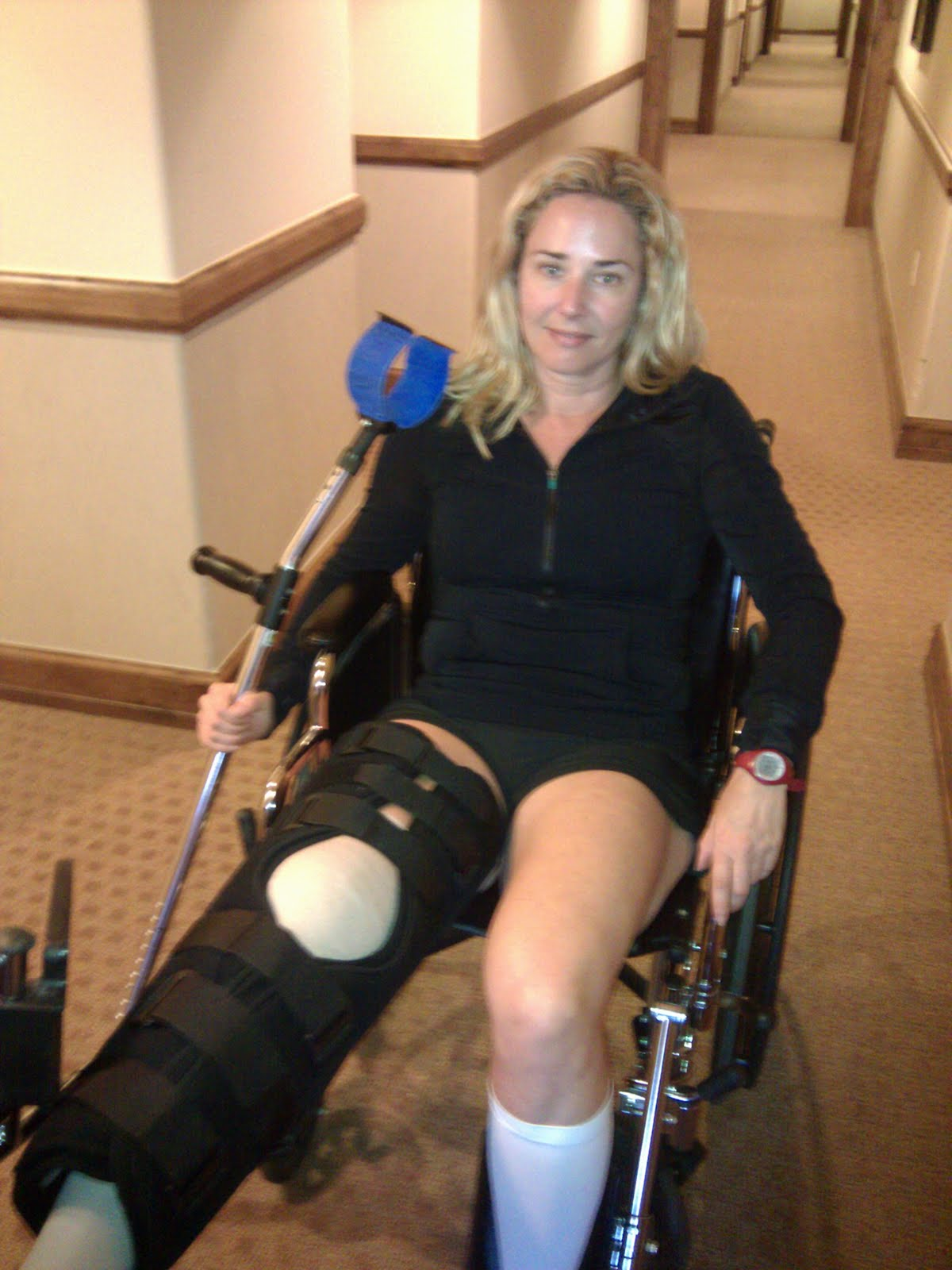 wheelchair leg support graco tot loc chair the 21 year old and her tear what i did after rupturing