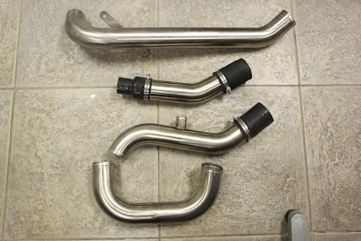 Evo X Build: Buschur Upper and Lower Intercooler Pipes