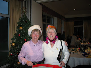 Gladys and Carol at the Douglas Park Christmas Lunch 2006