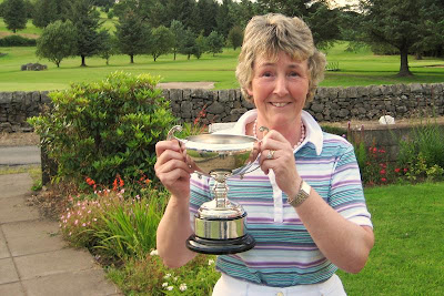 Carol with the Glenhead Trophy