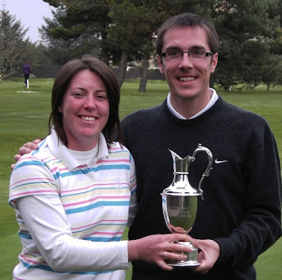 Anne Laing and Fraser Hutchison Winners of the 2007 Scottish Mixed Foursomes