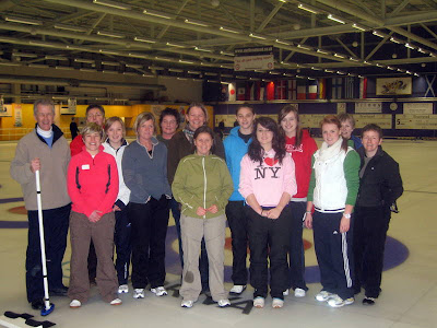 The 2009 RLCGA Training Squad go curling -- Click to enlarge