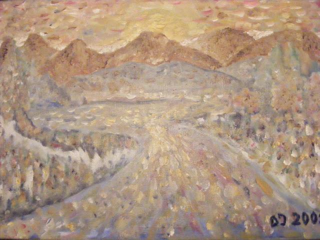 Cuadros y pinturas de Diegosax Paisaje con colores Oleo