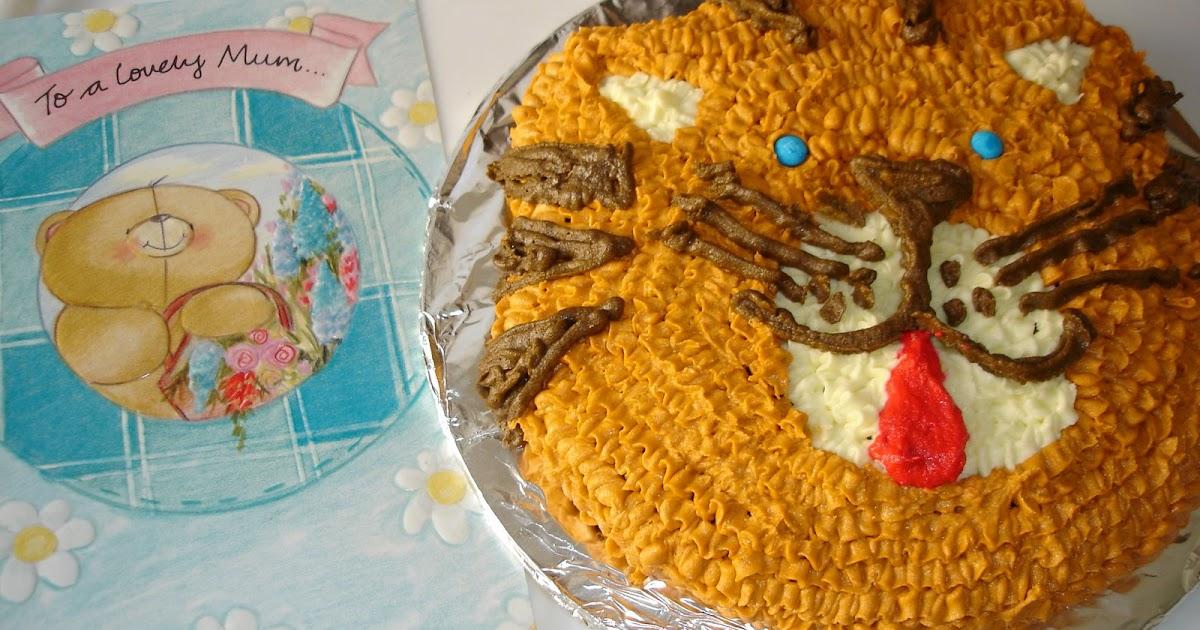 Cool Swapnas Cuisine Cat Shaped Birthday Cake Birthday Cards Printable Inklcafe Filternl