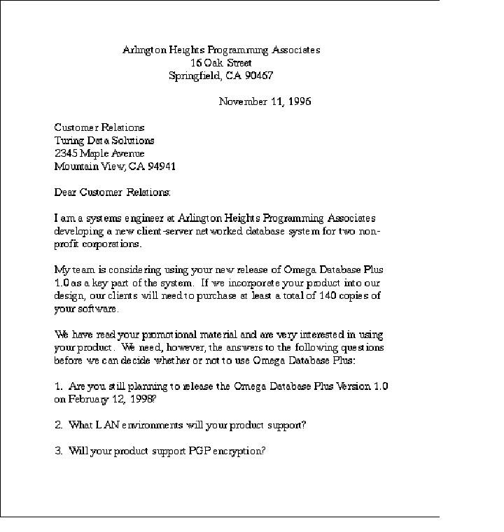 bahasa Inggris Bisnis Letter Inquiry