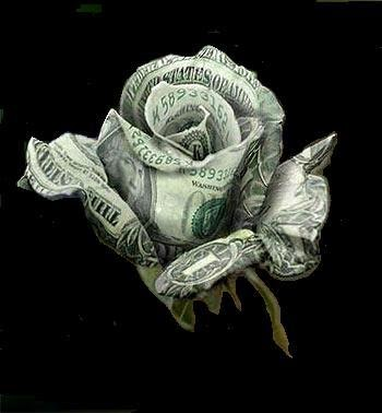 My Treasures Roses Made From Real Money