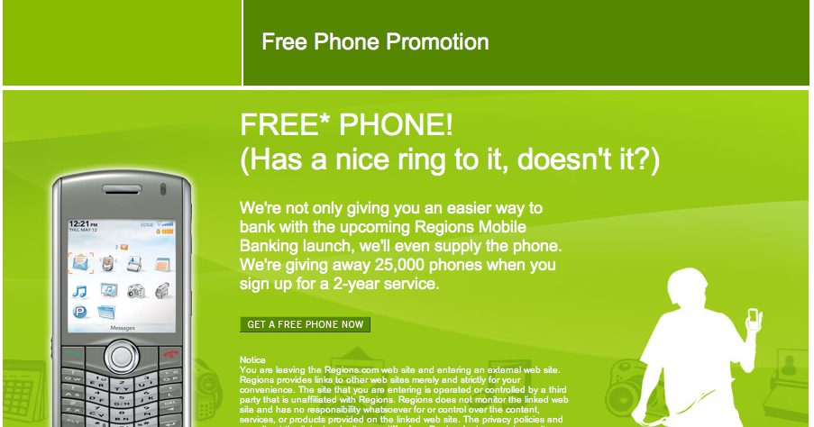 regions mobile banking number
