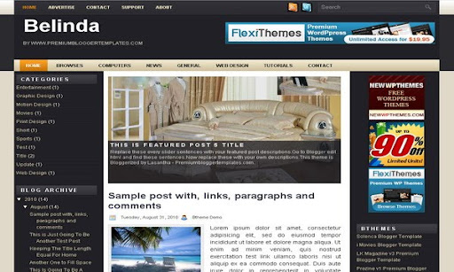 Belinda Blogger Template
