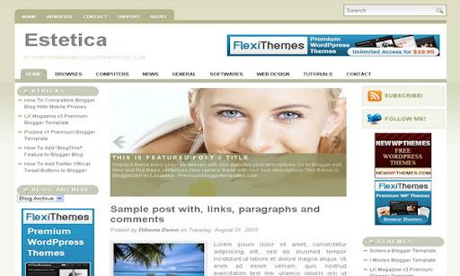 Estetica Blogger Template