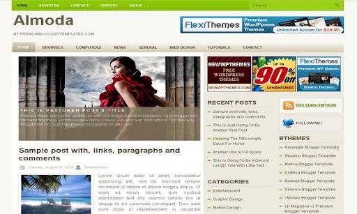 Almoda Blogger Template