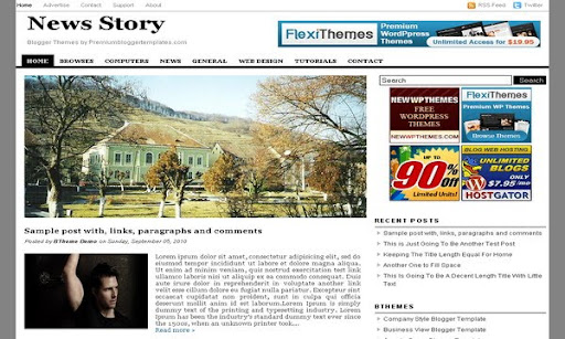 News Story Blogger Template