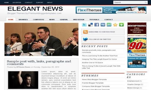 Elegant News Blogger Template