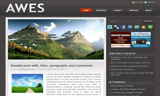 Awes Blogger Template