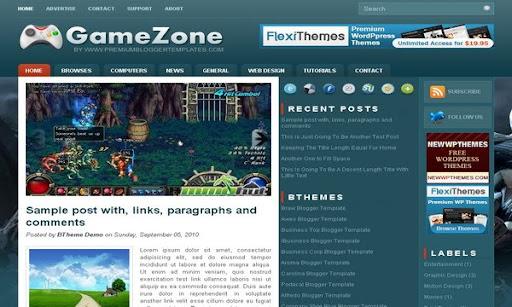 GameZone Blogger Template