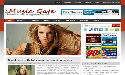 Music Gate Blogger Template