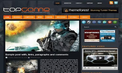 TopGame Blogger Template