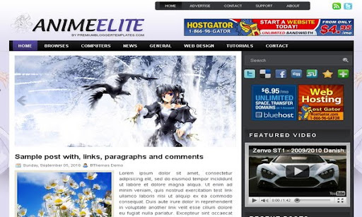 AnimeElite Blogger Template