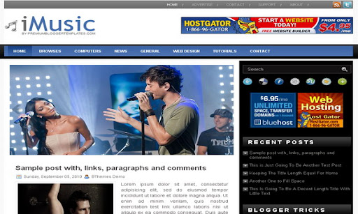 iMusic Blogger Template