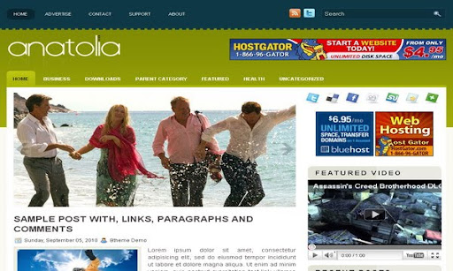Anatolia Blogger Template